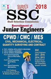 SSC Junior Engineers Civil, Mechanical, Electrical, Quantity Surveying and Contract Exam Book [CPWD/CWC/MES]