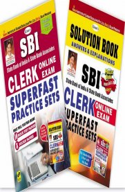Kiran's SBI Clerk Online Exam Superfast Practice Sets [With Solution Booklet Free]