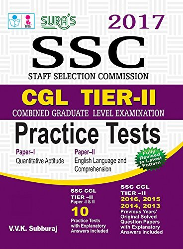 SSC CGL Combined Graduate Level Tier II Practice Tests Exam Book